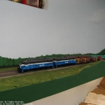 Several trains, nice scenery