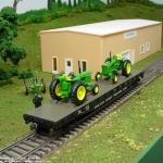 A load of John Dere tractors